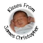 Personalized Photo Baby Hershey Kisses Stickers